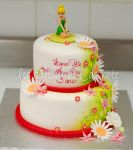 Tinkerbell themed cake by buttercreamfantasies
