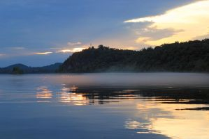 Sunset on Drowned Lands - Tellico Lake - June 2014 by CrystalMarineGallery