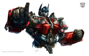 Optimus Prime movie bust by Dan-the-artguy