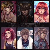 Painted Bust Commissions Open by Little-Miss-Boxie