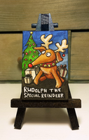 Minipainting - Rudolph the special reindeer by Bluesette