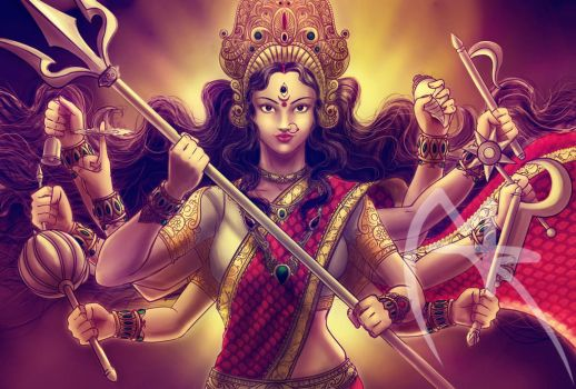 Durga Color Low Rez by loneHUNGRYwolf