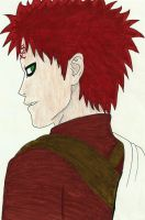 Gaara back view by Mischievous-Princess