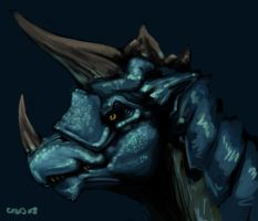 Blue Dragon Portrait by DAMEAUX9