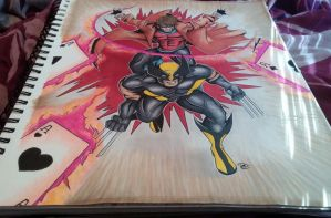 X-Men comission finished by Pradaninja