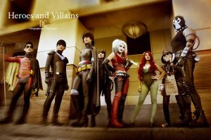 heroes and villains by ohjimmyboy