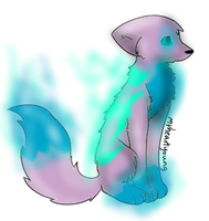 Ice and Water Wolf Adopt (3 Points) (CLOSED) by Firestar999
