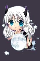 commission - chibi demon by Rosuuri