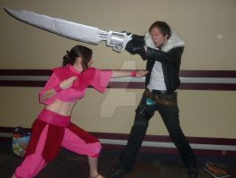 Ty Lee and Squall Fight by inaligrimalkin