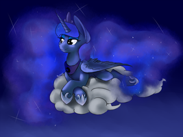 Lounging Luna by AllyClaw