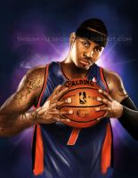 Carmelo Anthony by illEskoBar