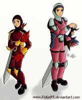 Rina And Rani, The twins!!!!!!!!!!! by apielang
