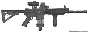 Black Tuesday M4A1 Hybrid Scope by Kweonza