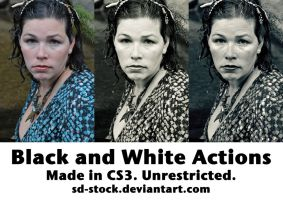 Black and White Actions 2 by sd-stock