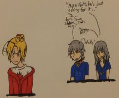 Hetalia- Canada VS Prussia and Nyo!Prussia by Karma-Maple