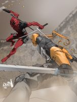 Deadpool Vs Deathstroke (Battle of the Wilsons) by madstanlee