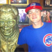 me and harry Caray. by jonnydash