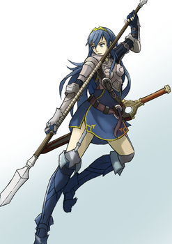 Fire emblem: Lucina as a pegasus knight by Vidolus