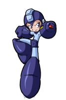 that blue bomber guy by rongs1234