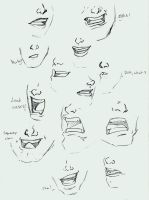 Expressions - mouths by RogueRider