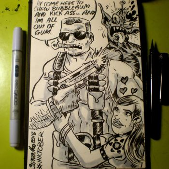 INKtober - The Duke by Cosmic-Rocket-Man