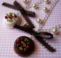 Designer Cake Necklaces 1 by FatallyFeminine