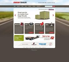 Endom Trailer Website Design by HappyCatfishWeb