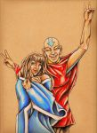 Katara/Aang -- I Hope He Never Grows Up (Colour) by shazam26