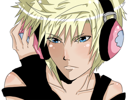 Cloud and pink headphones by Ciciheartbreaker000