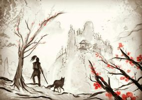 Ronin and his Wolf by DreadJim
