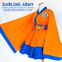 Goku - Dragonball Z - Cosplay Kimono Dress by DarlingArmy