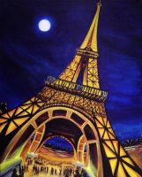 Moonlight Over Paris by theblueguy07