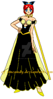 Esther YELLOW BLACK DRESS by smcandy
