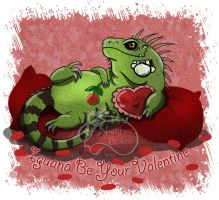 Iguana Be Your Valentine by NadilynBeato