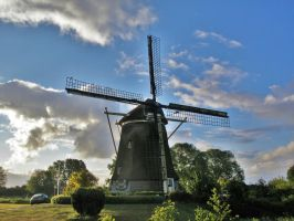 Windmill at Amsterdam by Furuhashi