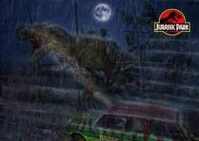Jurassic Park - T-Rex Escape by tomzj1