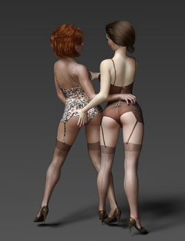 Pin Up Duo  by optimus63