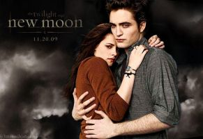 new moon wallpaper by masochisticlove