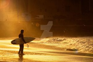 Surfers in a Sunbeam by Spanishalex