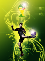 Mesut Ozil Poster Fifa World Cup 2014 by theskyinside