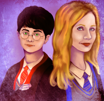 Harry and Joan Rowling by ChuzzMaestose
