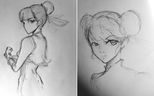 Chun-Li Sketches by pandorasbrox