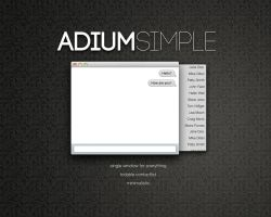 AdiumSimple by NKspace