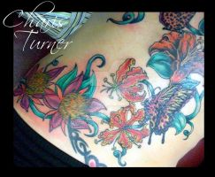 Butterfly and Flower Backpiece (Pt.3) by Metacharis