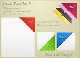Corner Ribbon Pack VOL 2 by ryanbdesigns
