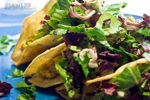 Coconut Curry tacos by aheria