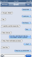 Text Messages Between Grell and Sebastian 1 by littleshadow3
