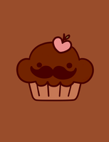 Chocolate moustache by Shielita