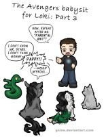 Avengers Babysit for Loki: Part 3 by Gnine