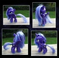 My Little Pony Little Princess Luna Custom by kaizerin